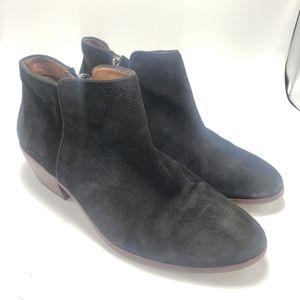 Sam Edelman Black Suade Petty Chelsea Boots